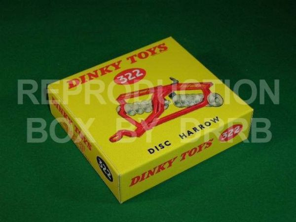 Dinky #322 (27h) Disc Harrow - Reproduction Box